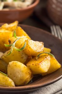 Baked potato with rosemary on plate vertical - baked potato with rosemary on plate vertical 200x300